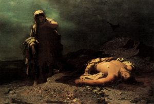 Antigone burying her brother