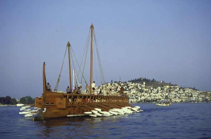 Replica of Athenian ships