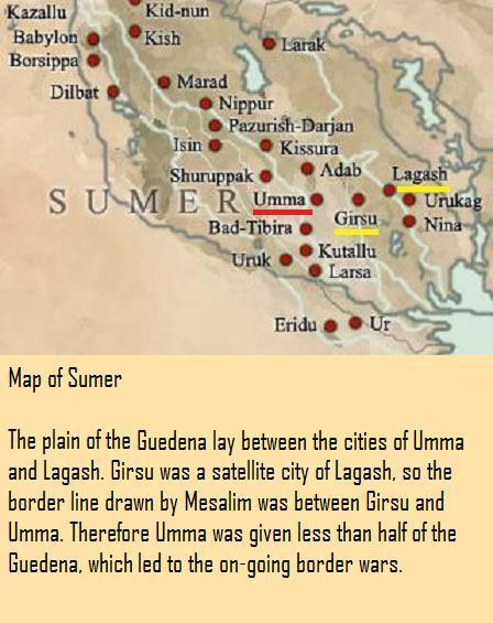 Map of Sumer