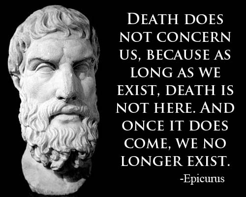 Epicurus quote death