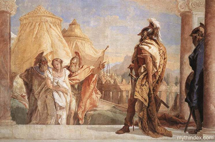 Briseis before Agamemnon