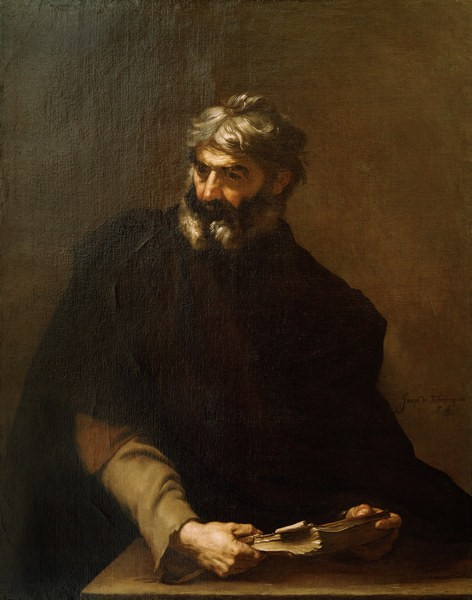 Protagoras of Abdera /Painting by Ribera -
