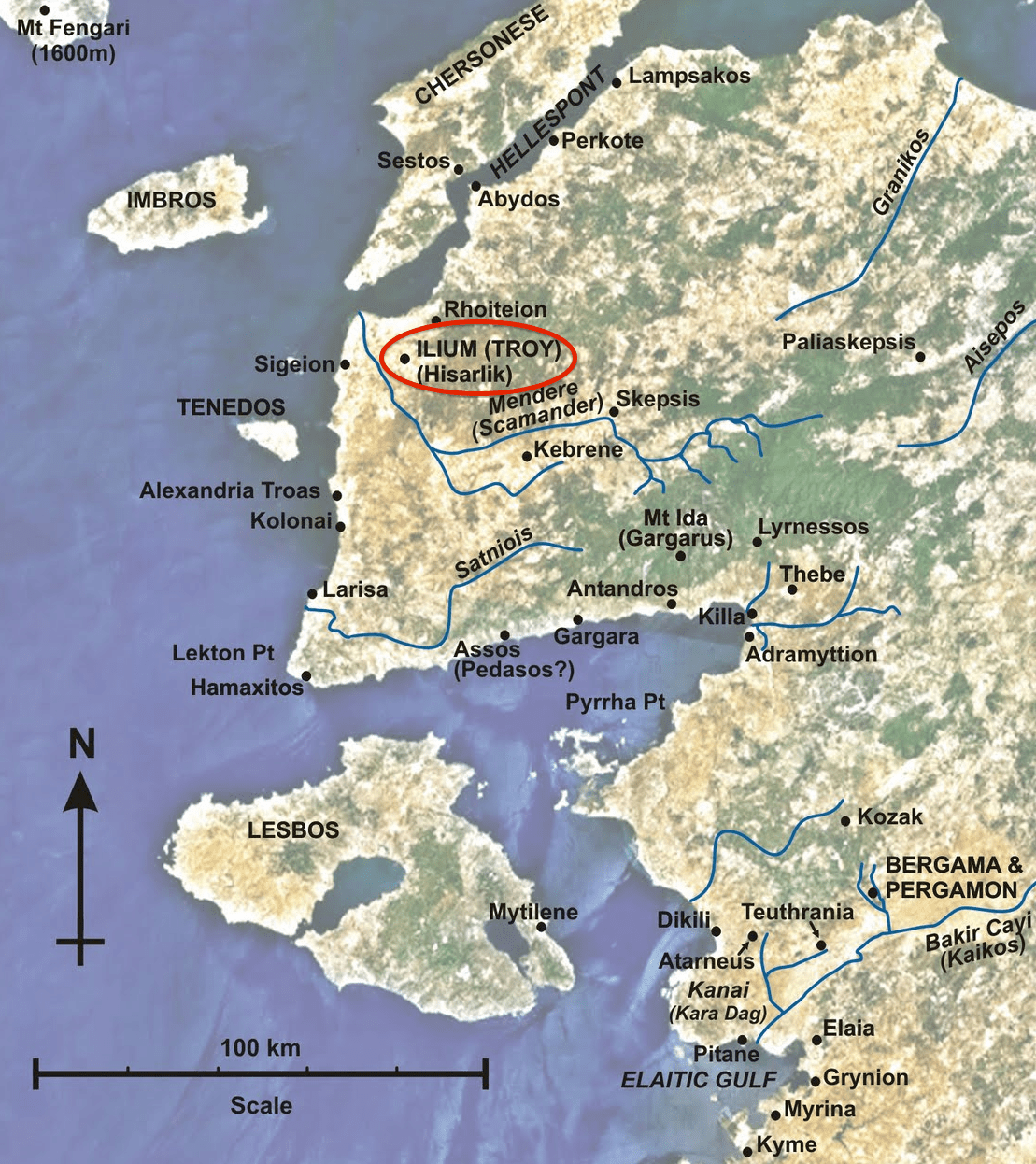 MAP of Hisarlik