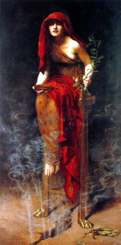 Painting of the Pythia