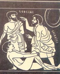 Illustration of Socrates and Gorgias