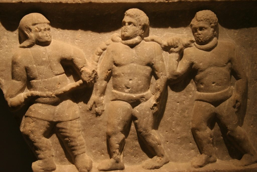 Roman collared slaves Relief, Ashmolean Museum