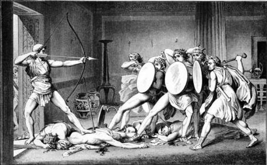 Odysseus' killing of the suitors