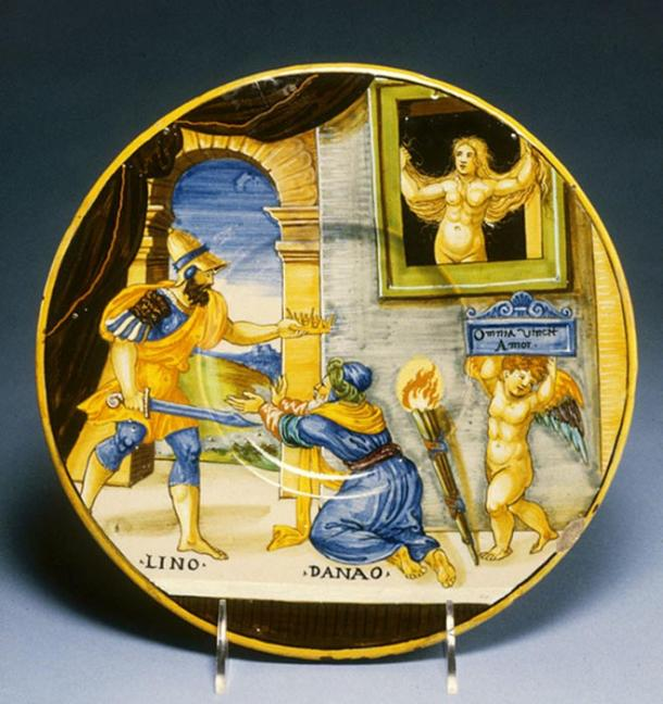 Plate with Hypermnestra and her husband