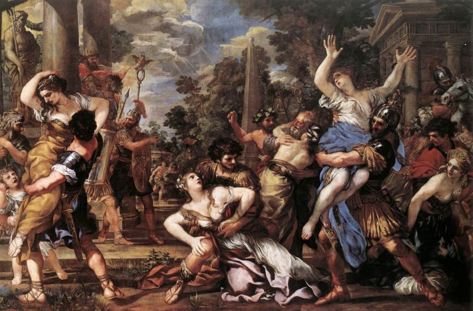 Painting of the Rape of the Sabine Women