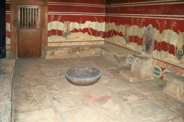 Ancient Knossos Throne room