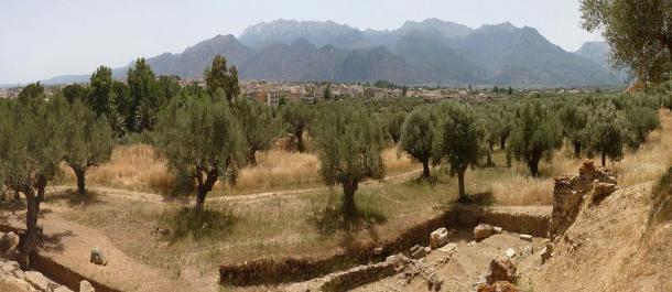 Photo of the location of Ancient Sparta