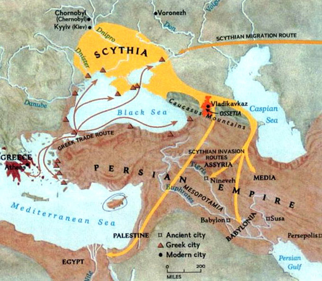 Map of Scythia