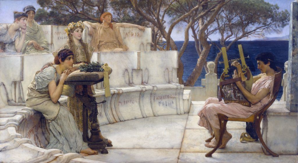 Painting of Poets Sappho and Alcaeus