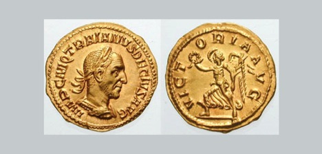 Coins depicting Roman Ruler