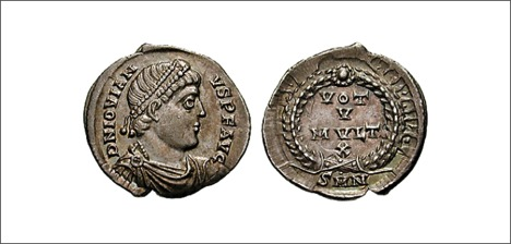 Coin depicting Jovian