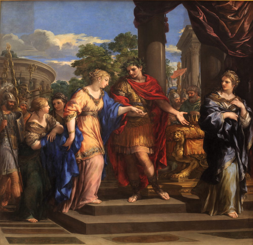Painting of Caesar and Cleopatra