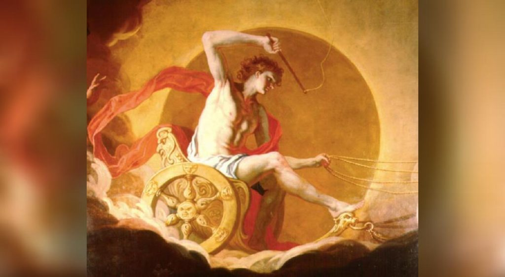 Painting of the Greek sun god