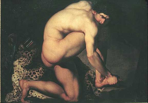 Painting of Philoctetes hurt