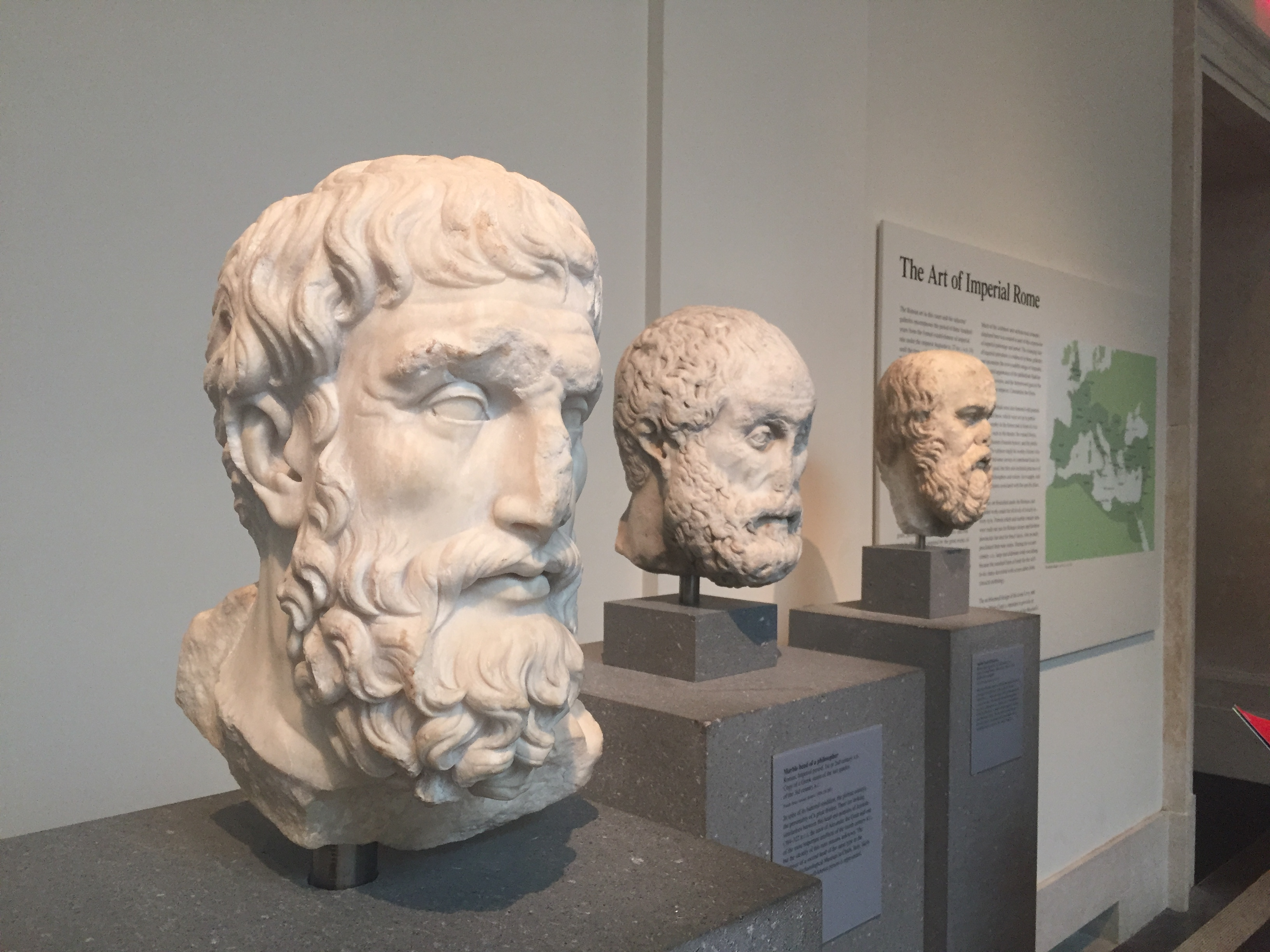 busts of philosophers