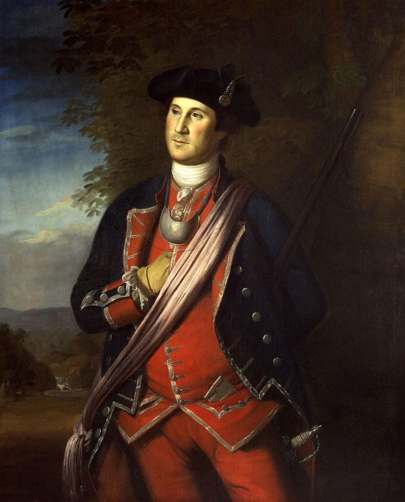 Painting of Washington as a Colonel