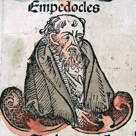 Illustration of Empedocles