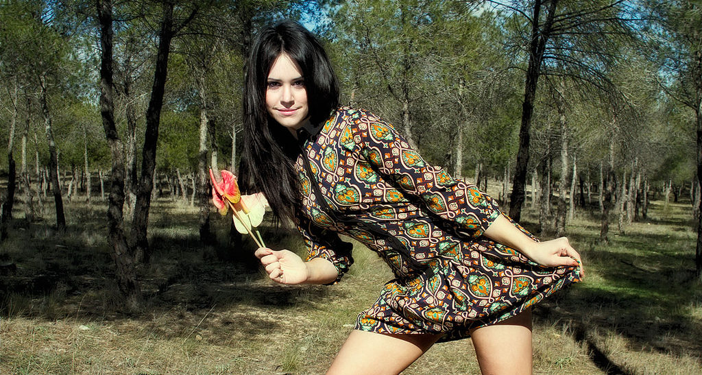 Flower power girl