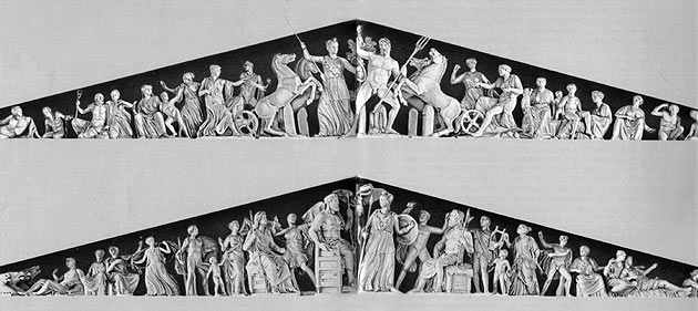 Pediments from the Parthenon.