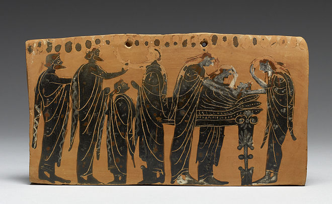 Ancient Greek Funeral Painting
