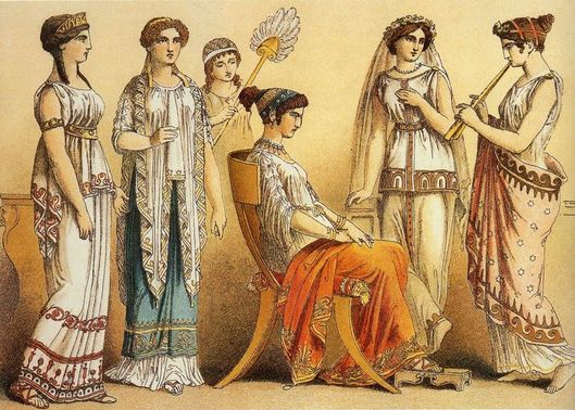 Ancient Greek women illustration