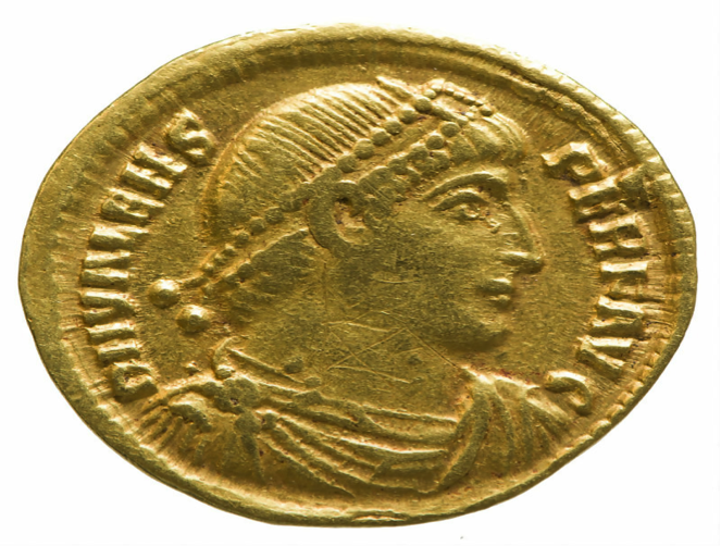 Gold coin of Valens