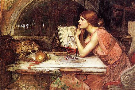 Waterhouse sketch of Circe