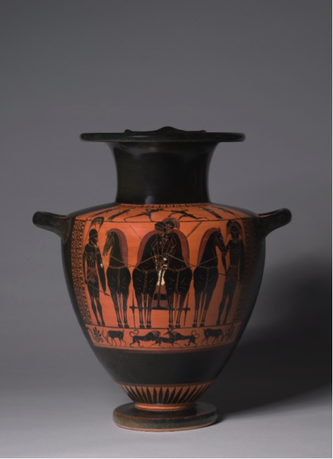 6th C BCE Hydria Black figure from Athens