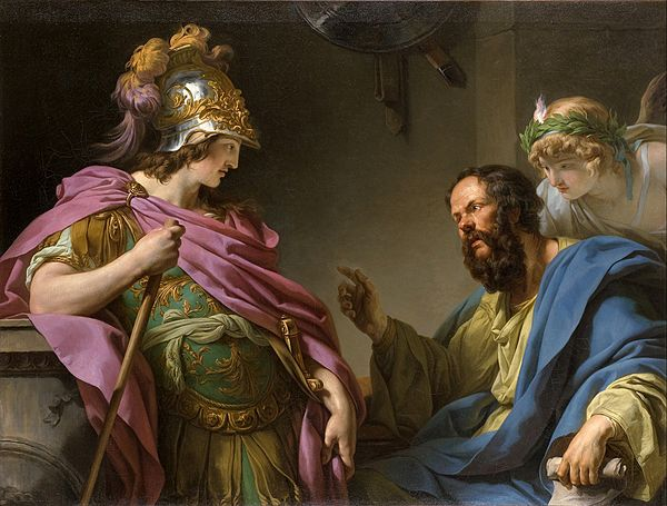 Alcibiades being taught