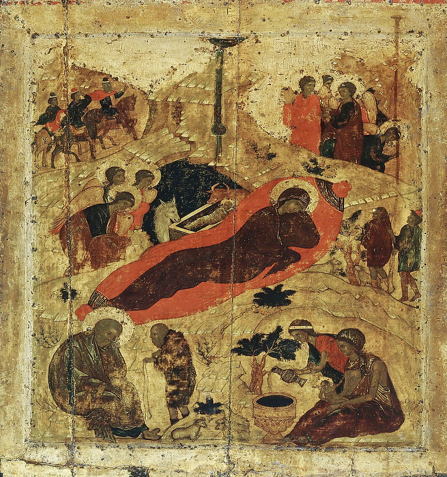 A Greek icon of the Nativity