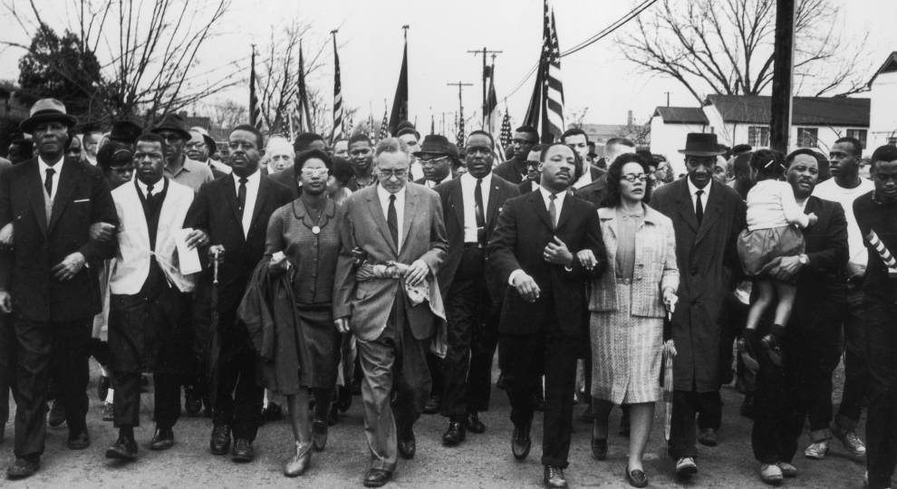 MLK marching